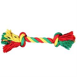 Веревка 2 узла 35см JOY текстильная игрушка для собак - фото 7326