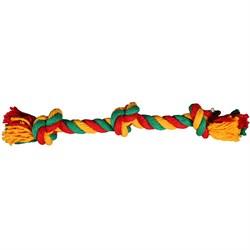 Веревка 3 узла 50см JOY текстильная игрушка для собак - фото 7328