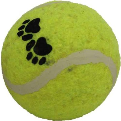 Мяч Лапки теннисный 6,3см Шурум-Бурум игрушка для собак (WP-6331) - фото 7375