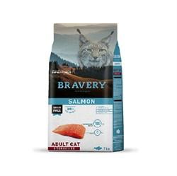 Корм 7кг BRAVERY лосось для стерилизованных кошек - фото 7503