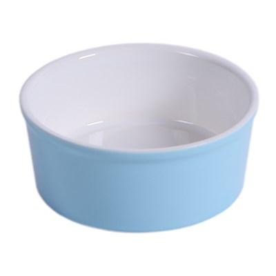 Миска 14см 450мл JOY керамическая голубая для кошек и собак мелких пород - фото 7721