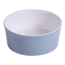 Миска 14см 450мл JOY керамическая серая для кошек и собак мелких пород - фото 7725