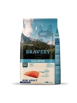 Корм 2кг BRAVERY лосось для собак мелких пород  - фото 7767