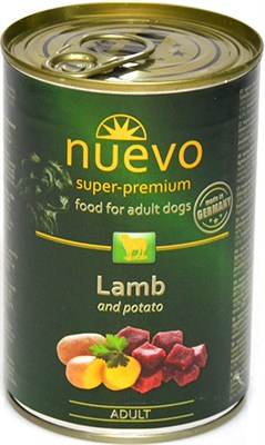 Корм 400г Nuevo ягненок с картофелем для собак (81644) - фото 7902