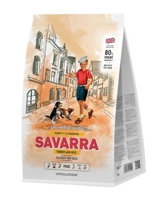 Корм 1кг SAVARRA индейка/рис для щенков (5649000) - фото 7984