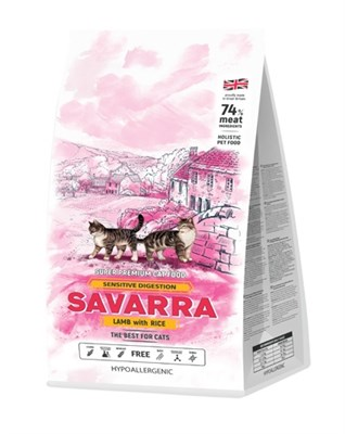 Корм 2кг SAVARRA Sensitive ягненок/рис для кошек с чувствительным пищеварением (5649121) - фото 8016