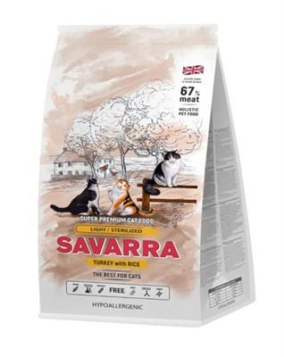 Корм 2кг SAVARRA Light индейка/рис  для кошек стерилизованных и с избыточным весом (5649151) - фото 8026