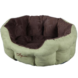 Лежанка круглая 50х40х20см JOY темная для собак - фото 8029