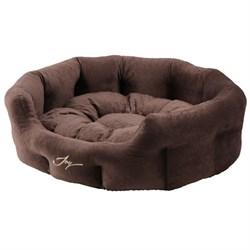 Лежанка круглая 60х50х21см JOY темная для собак - фото 8032