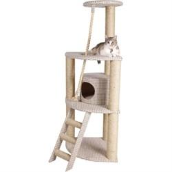 Домик Угловой четырехуровневый 50х50х142см JOY из ткани для кошек - фото 8262