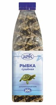 Корм 1000мл, 200г STAR рыбка сухая 3,5 см для водных черепах и ящериц - фото 8314
