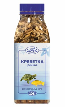Корм 500мл, 105г STAR креветка сухая ломанная для водных черепах и ящериц - фото 8316