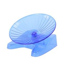 Колесо 14,9х13,9х8,7см Шурум-Бурум голубое пластиковое для хомяка (Р1124) - фото 8471