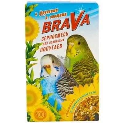Корм 500г BRAVA с фруктами и овощами для волнистых попугаев - фото 8537