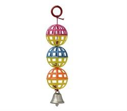 Игрушка три шарика с колокольчиком для птиц (LT027/П6289) - фото 8657