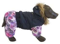 Комбинезон S JOY теплый с мехом синий для собак (RUS04002) - фото 9138