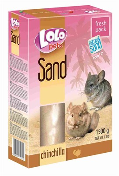 Песок 1,5кг ЛолоПетс для шиншиллы (LO-71051) - фото 9831