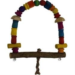 Качели Арка деревянная игрушка для птиц (ВТ 1204) - фото 9972