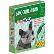 Ошейник БИО 35см Доктор ZOO от блох, клещей ЗЕЛЕНЫЙ для кошек и мелких собак (ZR0923)