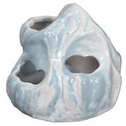 Декор Ракушечник 9,5х8х8см STAR из белой глины керамика для аквариума