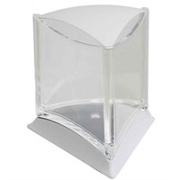 Аквариум треугольный белый д/петушка со светодиодной лампой (O-BFT-L)