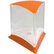 Аквариум треугольный оранжевый д/петушка со светодиодной лам (O-BFT-L)