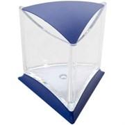 Аквариум треугольный синий д/петушка со светодиодной лампой