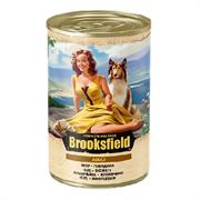 Корм 400г BROOKSFIELD говядина с рисом для собак ж/б (5654000)