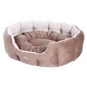 Лежанка круглая 70х55х22см JOY цвет в ассортименте для собак