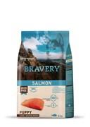 Корм 4кг BRAVERY PUPPY лосось для щенков крупных и средних пород (04PE040070)