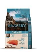 Корм 12кг BRAVERY PUPPY лосось для щенков крупных и средних пород (04PE120016)