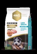 Корм 4кг AMITY SUPER PREMIUM LOW GRAIN PUPPY  курица для щенков (04PE040079)
