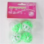Мяч 3,5см Шурум-Бурум пластиковая игрушка для кошек (уп.4шт) (CT12006)