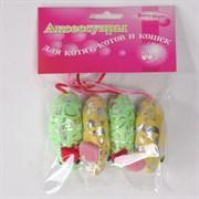 Мышь 6см Шурум-Бурум текстильная игрушка для кошек (уп.4шт) (CT12051)