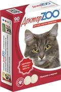 Доктор ZOO 90тб Здоровье кожи и шерсти мультивитаминное лакомство для кошек (ZR0201)