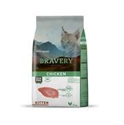 Корм 2кг BRAVERY Kitten с курицей для котят