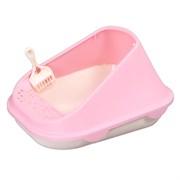Туалет 51,7х41,9х31,2см Шурум-Бурум с высоким розовым бортиком для кошки (Р1261)