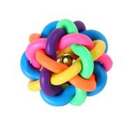 Мяч плетеный 6,9см Шурум-Бурум резиновая игрушка для собак (Р526)