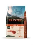 Корм 4кг BRAVERY ягненок для собак крупных и средних пород