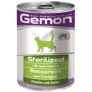 Корм 415г GEMON Sterilised кусочки кролика для стерилизованных кошек ж/б(70300711)