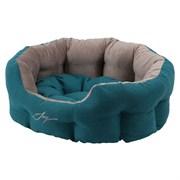 Лежанка круглая 50х40х20см JOY бирюзовая для собак