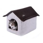 Дом со съемной крышей 53х41х39 JOY светлый для кошек