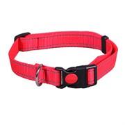 Ошейник 25мм, 45-70см L JOY стропа красная со светоотражающими элементами для собак