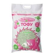 Наполнитель 15л Шурум-Бурум ТОФУ Зеленый чай растительный комкующийся для кошек