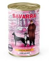 Корм 395г SAVARRA ягненок/рис  для собак ж/б (5655000)