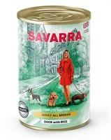 Корм 395г SAVARRA утка/рис для собак ж/б (5655001)