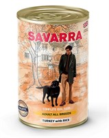 Корм 395г SAVARRA индейка/рис для собак ж/б (5655002)