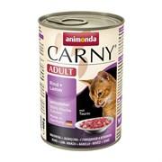 Корм 400г Animonda Carny с говядиной и ягненк. для кошек ж/б (001/83721)