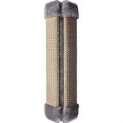 Когтеточка угловая сизалевая 50х16см Шурум-Бурум серая для кошек (1КУК00017)