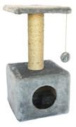 Домик квадратный 30х30х60см Шурум-Бурум серый для кошек
